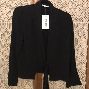 12th Tribe Black Te Front Blouse